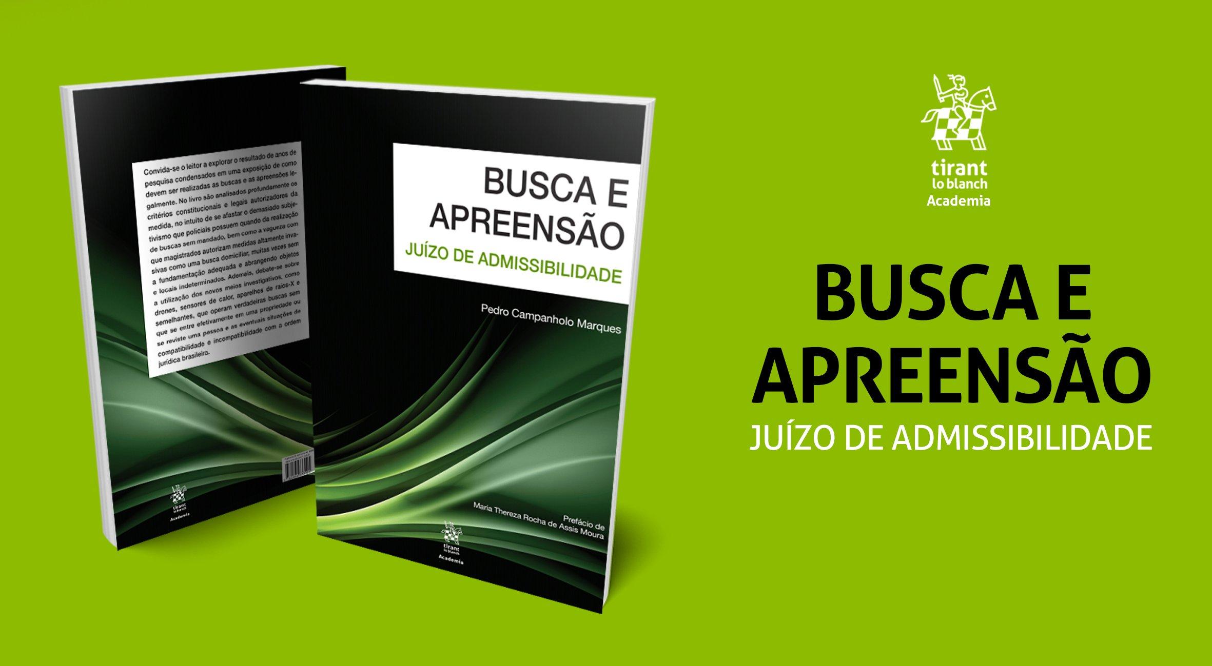 Lançamento - Busca e Apreensão: Juízo de Admissibilidade, do autor Pedro Campanholo Marques